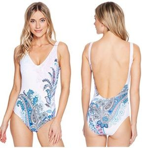 Tommy Bahama paisley one piece bathing suit